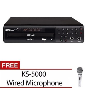 The Platinum Kool Sound Junior KS-10 DVD Karaoke Player with FREE 12,000 Songs and KS-5000 Wired Microphone Price Philippines