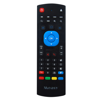 Measy Portable Mini 4 in 1 2.4G Wireless Qwerty Keyboard Fly Mouse IR Learning Remote Controller 3-Gsensor & 3-Gyrowith Sensor for Android Smart TV/IPTV/Networked set-top Box/Mini PC/Android TV Box/HTPC/PCTV/Xbox 360 - intl Price Philippines