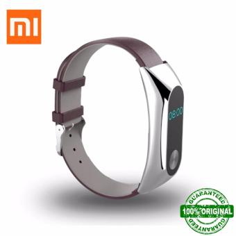 MorganStar Leather Strap Belt for Xiaomi Mi Band 2 Smart MiBand Replacement Bracelet No Screws Price Philippines