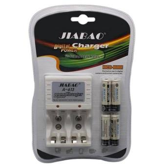 Jiabao A-613 Charger with 4-Piece 600mAh AA Rechargable Battery Price Philippines