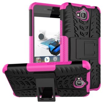 Harga BYT Rugged Dazzle Case for Huawei Honor Holly 2 Plus / Y6 Pro with Kickstand (Rose)