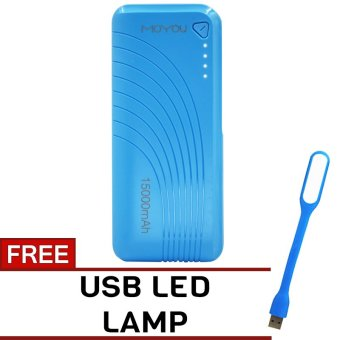 MOYOU 15000mAh Power Bank with FREE USB LED Lamp (Blue) Price Philippines