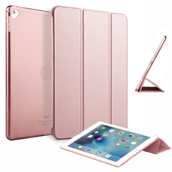 "Slim Tri-fold Case PU Leather Smart Cover for Apple iPad Pro 9.7"" (Rose Gold) Price Philippines"