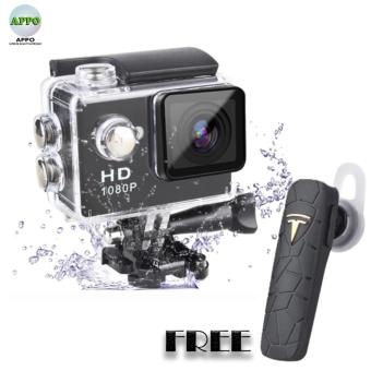 APPO A7 Ultra HD 1080P Waterproof Sports Action Camera [FREE:JUMI A4 Bluetooth Earphones] (Black) Price Philippines