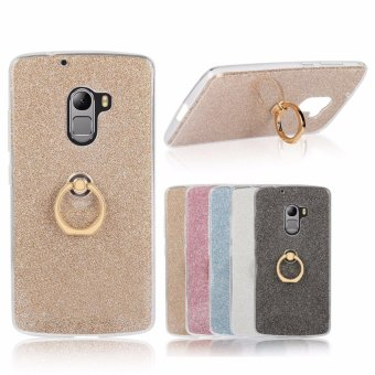 Drop Resistance Metal Ring Stand TPU Phone Case Cover for Lenovo K4 Note / Vibe X3 Lite / A7010 (Gold) - intl Price Philippines