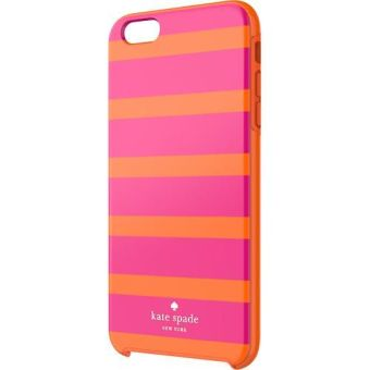 Harga Kate Spade Kinetic Stripe Orange/Pink Iphone 6/6s Hybrid Hard Shell Case