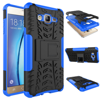 Harga BYT Rugged Dazzle Case for Samsung Galaxy On 7 2016 with Kickstand (Blue)
