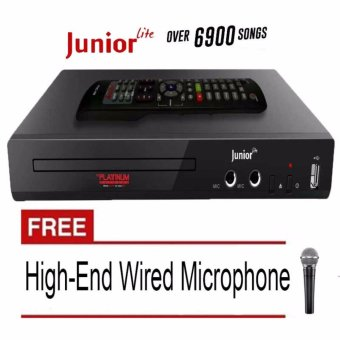 The Platinum Kool Sound Junior KS-5 DVD Karaoke Player (Black) Free High-End Dynamic Wired Microphone Price Philippines