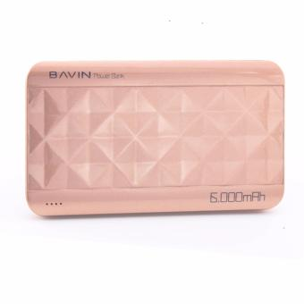 Bavin PC182 Diamond iPower 2-Port USB 6000mAh Power Bank (Rose Gold) Price Philippines