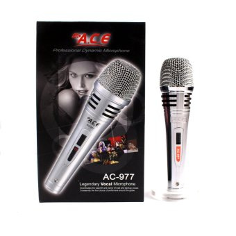 Harga Ace AC-977 Professional Uni-directional Dynamic Legendary Vocal Wired microphone (Silver)