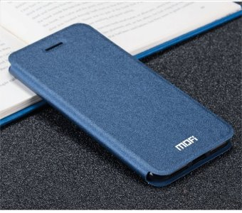 Harga Mofi Flip Leather Wallet Case Cover For Vivo Y55 / Vivo Y55A (Dark Blue) - intl