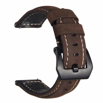 Harga Samsung Gear S3 S2 Premium Leather Watchband Bracelet Strap for Samsung Gear S3 S2 (Reddish Brown)