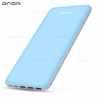 ONDA N200T 20000 mAh Triple Thin Portable External Battery Power Bank (Light Blue) Price Philippines