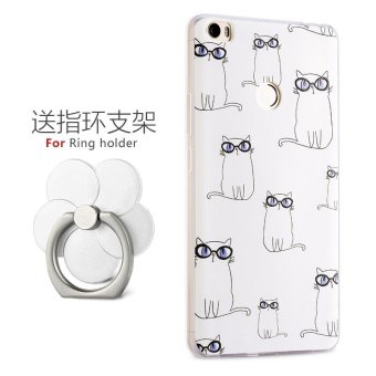 NEW Creative soft silicone cartoon Phone Case For Xiaomi Mi Max 6.44 inch/ Phone Cover/Shockproof Phonecase for xiaomi max /Phone Protector for xiao mimax (1 X Soft TPU/Silicone​ Phone Case + 1 X Ring ) - intl Price Philippines