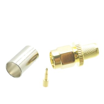 Harga Fliegend 1pce SMA male crimp RF connector for RG-8X LMR240 RG8X plug center - Intl