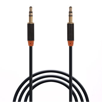 LC 2 Pack 1.0 Meter 3.5mm Male To Male Stereo Auxiliary Aux Audio Cable Gold Plated Plugs for iPhone, iPad, iPod, Smartphone, Tablet and MP3 Player (Black) Price Philippines