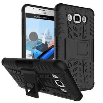 Harga BYT Rugged Dazzle Case for Samsung Galaxy J7 2016 with Kickstand (Black)