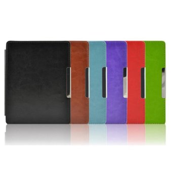 Harga Magnetic Leather Cover Case For kobo aura non HD 6.0 inch eReader Black - intl