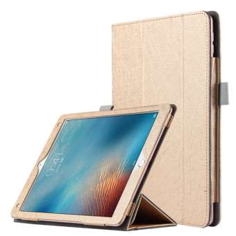 BUILDPHONE PU Leather Smart Flip Pad Cover for Apple iPad Air 1/iPad 5 (Gold) - intl Price Philippines