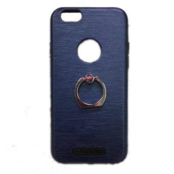 Harga Motomo Rubber Armour Metal Case with Ring Grip for iPhone 6 Plus/6s Plus (Blue)
