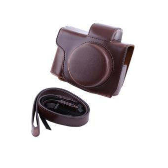 Harga PU Leather Camera Case Bag For Olympus EM10 II Short Focal​ Camera(coffee) - intl