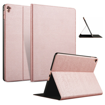 "PU Leather Cover Wood Grain Case for Apple iPad Pro 9.7"" (Rose Gold) Price Philippines"