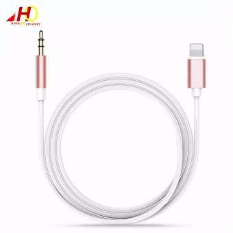 Harga Lightning 8Pin to 3.5mm Headphone Jack Aux Audio Adapter Cable for iPhone 7/7Plus/6/6Plus/5/5SE (Rose Gold)