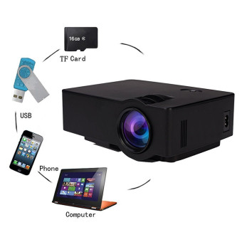 ELEGIANT UK Black Mini Projector Archeer E08 Portable 1080P LED Projector Outdoor Home Cinema Theater with PC Laptop USB/SD/AV/HDMI Input Pocket Projector for Video TV Movie Party Game Home Entertainment Pico Projector - intl Price Philippines