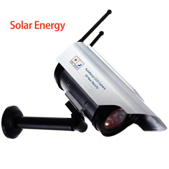 Harga Dummy Outdoor Indoor Security CCTV Surveillance Camera Solar Battery Powered
