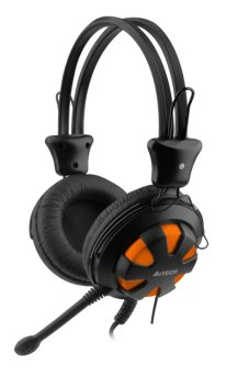 A4Tech HS-28-3 ComfortFit Stereo Headset (Black/Orange) Price Philippines