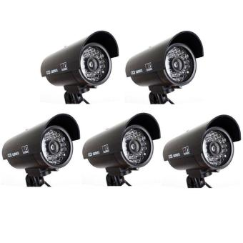 YACGroup Brand Dome Dummy Fake Camera Home Surveillance Security LED Night Vision 5pcs - intl Price Philippines
