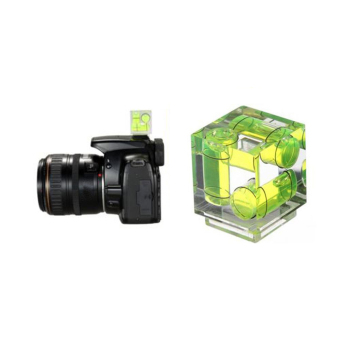 niceEshop Hot Shoe Three Axis Triple Bubble Spirit Level For Canon Nikon Cameras(Green) Price Philippines