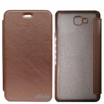 Samsung J7 Prime TPU Flip Nice Leather Coque Capa Cover Case (Rose Gold) Price Philippines