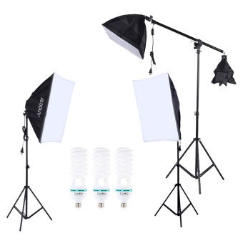 Andoer Professional Photography Photo Lighting Kit Set with 5500K 135W Daylight Studio Bulb Light Stand Square Cube Softbox Cantilever Bag Outdoorfree - Intl Price Philippines