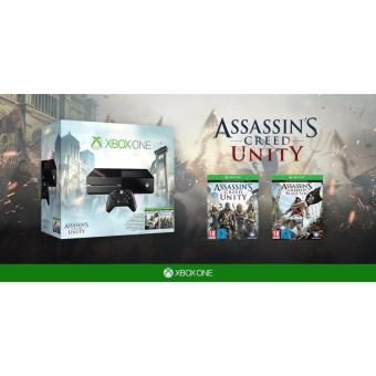 Harga Xbox One 500GB Console - Assassin's Creed Unity Bundle 2 games