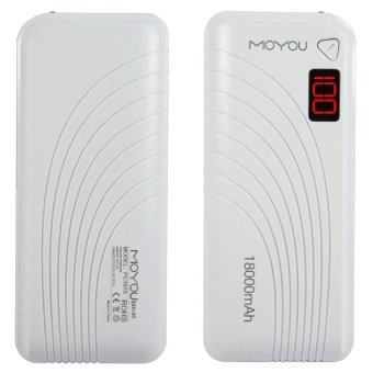 MoYou PC187 18000mAh Power Bank (White) Price Philippines