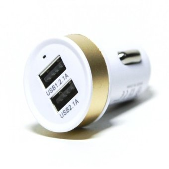 KO-07 2 Port Round USB Car Charger (No Lines) Gold Price Philippines