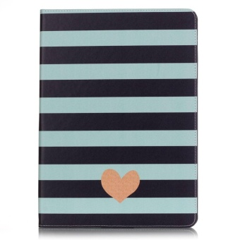 Harga Painted tablet computer protection case For Apple iPad Pro 12.9inch(Gray stripes heart) - intl