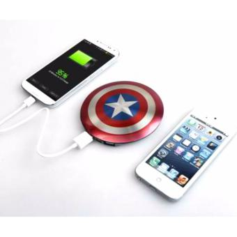 Harga Marvel Advengers Captain America's Shield Power Bank 6800mAh