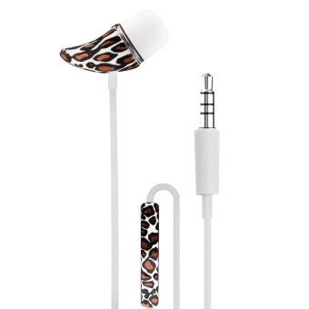 Android Essentials Powerful Bass In-Ear-Headphones with Volume Control (Printed Horn Leopard) Price Philippines