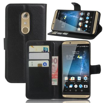 Harga Flip PU Leather Cover Case For ZTE Axon 7 (Black) - intl