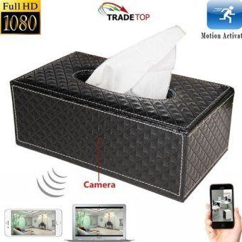 Harga Mini 1080P WIFI HD SPY DVR Hidden IP Camera Tissue Box Video Recorders Nanny Cam - Intl
