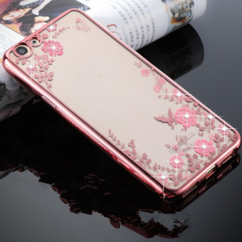 Harga Secret Garden TPU Back Case Cover For Vivo Y55 / Vivo Y55A (Rose Gold) - intl