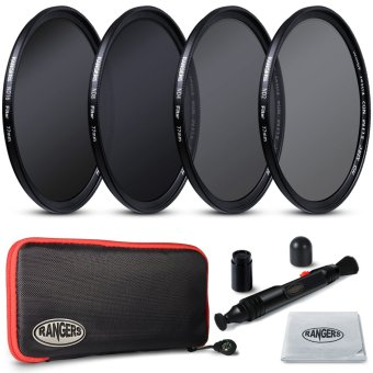 Harga Rangers 77mm ND2 4 8 16 Filter Set Neutral Density + Cleaning Pen for Nikon RA22