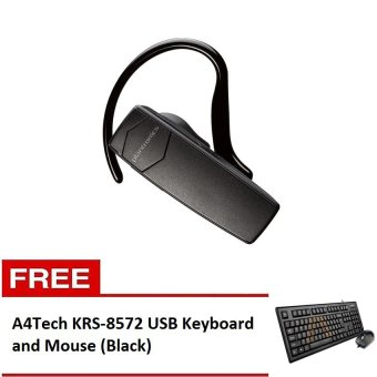 Harga Plantronics Explorer 10 Bluetooth Headset (Black) with Free A4Tech KRS-8572 USB Keyboard and Mouse (Black)