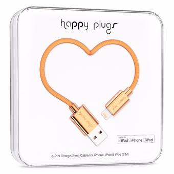 Happy Plugs Deluxe Edition Lightning Charge/Sync Cable 2m (Rose Gold) Price Philippines