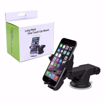 Harga Fab GiftsLong Neck Mobile Phone Car Mount (Black)