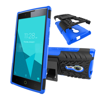 Harga BYT Rugged Dazzle Case for Alcatel One Touch Flash 2 with Kickstand (Blue)