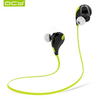QCY QY7 Original 80dB Sweat-Proof Sporty Bluetooth Headset (Black/Green) Price Philippines