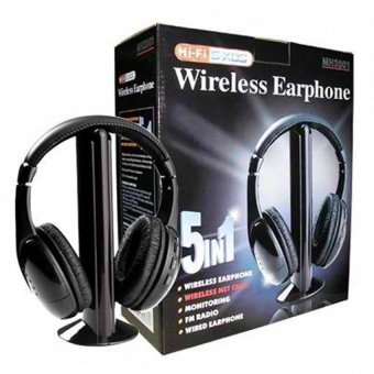 Wireless Headset Hi-Fi 5 in 1 (Black) Price Philippines
